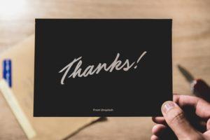 基本的な「ありがとう」