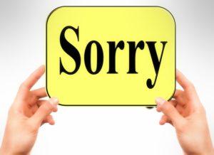 フランス語  簡単な謝罪を述べる時